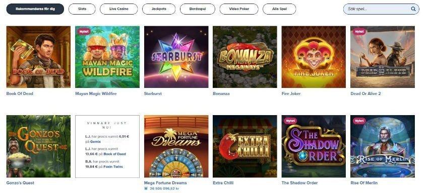 spelutbud igame casino