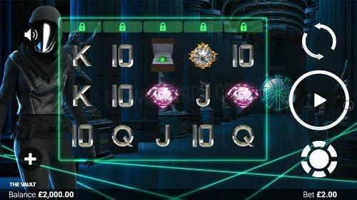 Skärmbild från casinospelet The Vault.