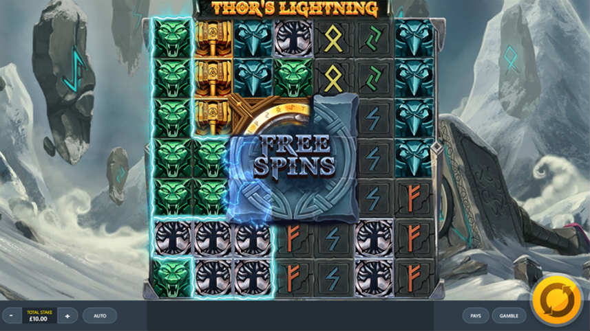 Thor's Lightning spelautomat hjul