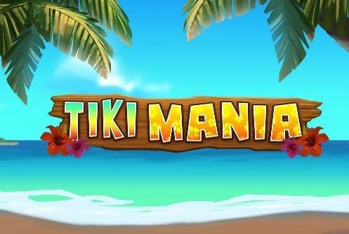 Logotyp och grafik från casinospelet Tiki Mania