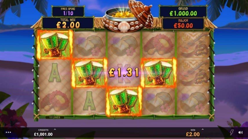 Vinst i casinospelet Tiki Mania