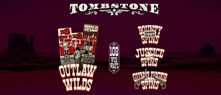 Tomstone slot symboler