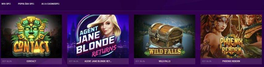 Violet Casino spelutbud slots