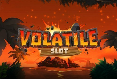 Logotyp tillhörande casinospelet Volatile Slot