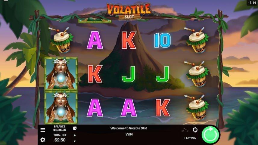 Online sloten Volatile Slot från Golden rock Studios