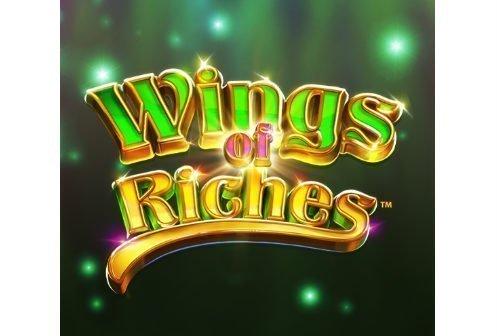 Logotyp tillhörande NetEnts casinospel Wings of Riches.