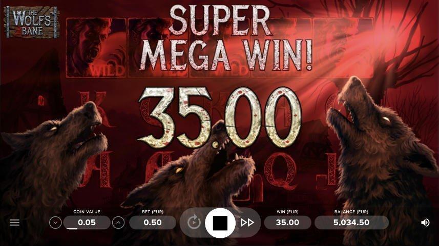 Stor vinst i The Wolfs Bane från NetEnt