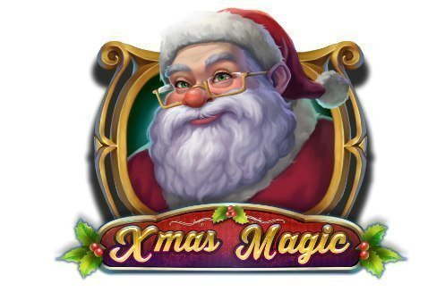 Logotyp från casinospelet Xmas Magic. En klassisk jultomte syns, under honom står texten Xmas Magic.